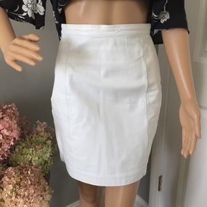 Wilsons genuine white leather skirt